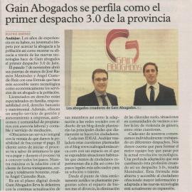 Gain Abogados se perfila como el primer despacho 3.0 de la provincia